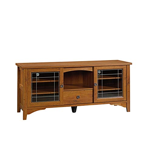 - Sauder 404867 Rose Valley Entertainment Credenza, Abbey Oak Finish