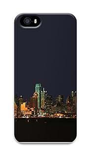 iPhone 5 5S Case Dallas Texas Night Skyline 3D Custom iPhone 5 5S Case Cover