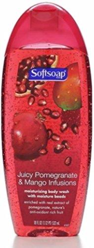 (Softsoap Moisturizing Body Wash, Pomegranate and Mango Infusions 18 oz (Pack of 5))