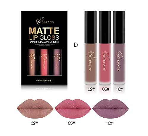 Halloween Makeup Set Liquid Lipstick Matte Long-Lasting Waterproof Lip Stick Lip Gloss -