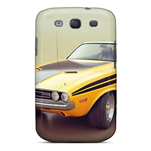 Scratch Resistant Hard Phone Cover For Samsung Galaxy S3 With Unique Design Realistic Dodge Challenger Skin SherriFakhry