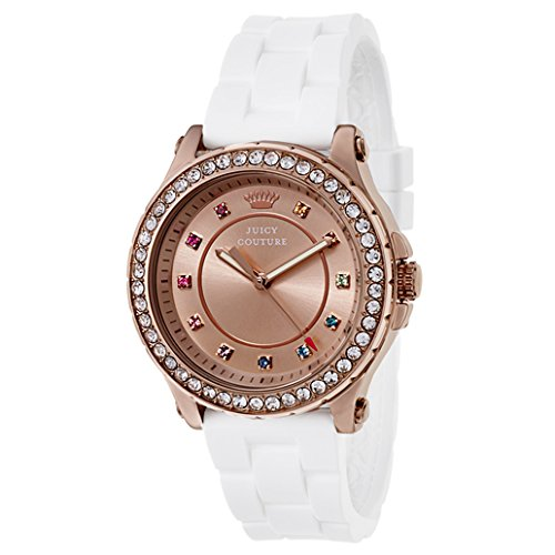 Juicy Couture Women's White RoseGold Silicone Strap Watch - 2