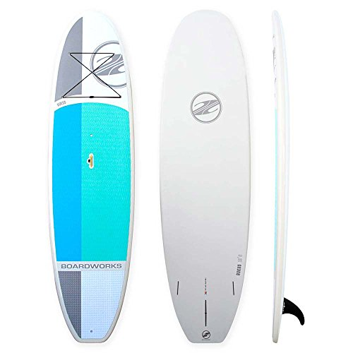 Boardworks Rukus 10'6'' Polycarb/Abs Surf Board | Blue/White by Boardworks Surf