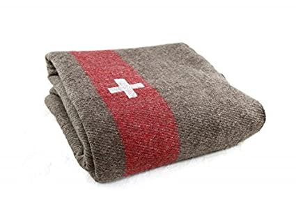 fd1e17a231 Amazon.com  Extra Heavy Duty Swiss Army Military Wool Blanket Cover ...