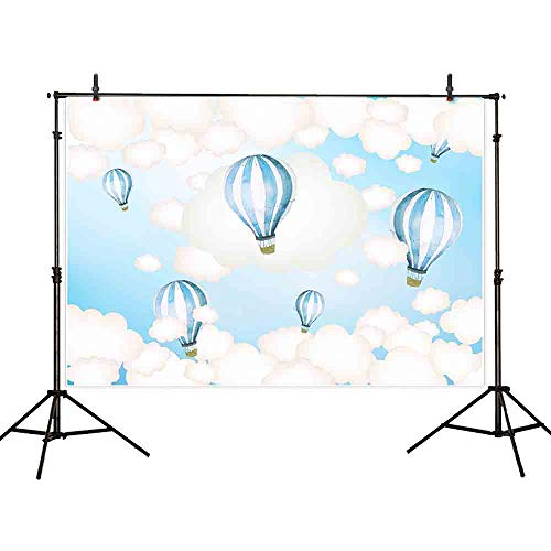 Allenjoy 7x5ft hot air balloons clouds Cartoon backdrop for Children Pictures Photo Studio Props Photocall Photography Backdrops