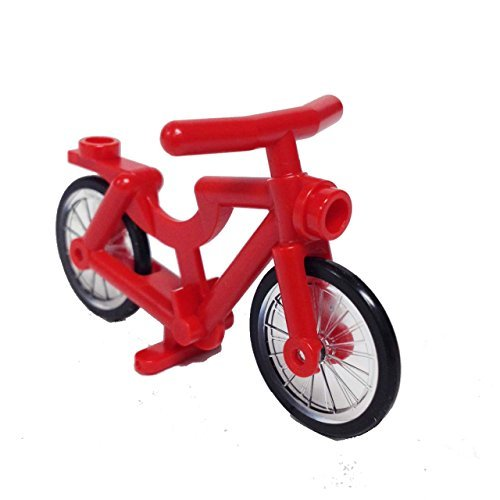 Lego Parts: Bicycle, Complete Assembly (Red)