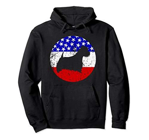 (American Flag Westie Hoodie - Retro Dog Hoodie)