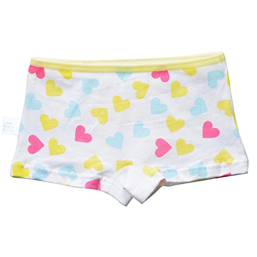 Toddler Girls' 4-Pack Love Heart Pussy Cat Assorted Hipster Panties Cotton Seamless Underwear Set Size XL/8-10 Years by Xrknofio (Image #3)'