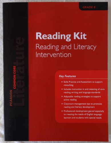 Pearson Common Core Literature Grade 8 Reading Kit Reading and Literacy Intervention