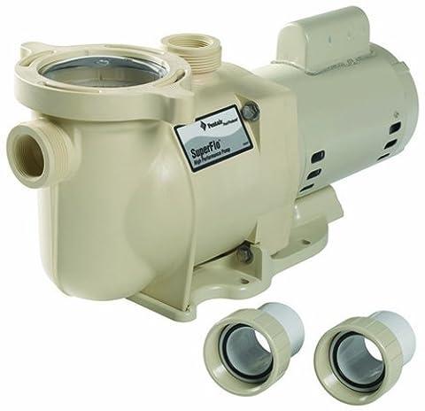 Pentair SF-N1-2AE SuperFlo Single Speed Energy Efficient Pump, 2 HP - Pentair Superflo Pool Pump