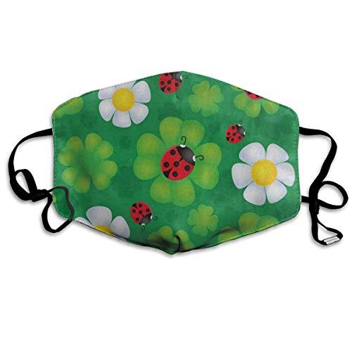 Mouth Mask Lovely Clover Leaf Ladybug Anti-dust Face Mask Dustproof Masks]()