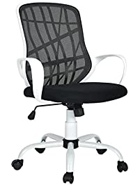 furniturer office chair adjustable mesh computer chair swivel high back home desk chair white - Desk Chairs For Teens