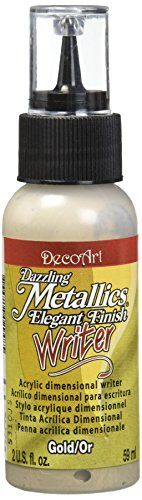 DecoArt DAW71-3 Dazzling Metallics Writers Paint, 2-Ounce, Gold