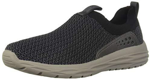 Classic Slip Sneakers - Skechers Men's HARSEN-RENEGO Moccasin, Black, 10.5 Medium US