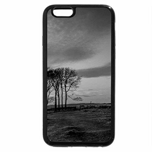 iPhone 6S Plus Case, iPhone 6 Plus Case (Black & White) - wonderful yellow sunset