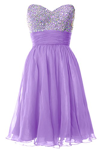 Cocktail Prom Short MACloth Women Lavendel Strapless Party Chiffon Dress Formal Gown Ball qpqfAUFw