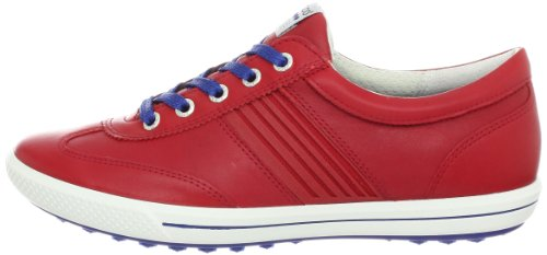 ECCO Women's Golf Street Sport Golf Shoe,Chilli Red/Royal,39 EU/8-8.5 M US