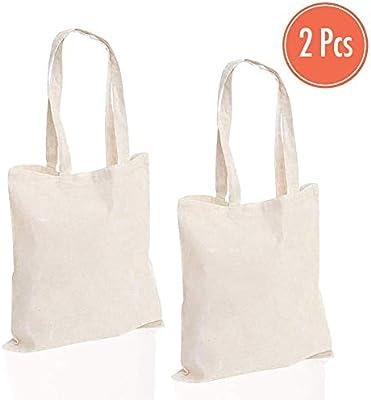 Doble bolsa | resistente lona de algodón las compras de ...