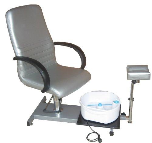 hydraulisch höhenverstellbarer Fußpflegestuhl mit Becken und verstellbarer Fußauflage