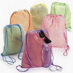 Price comparison product image Neon Net Backpacks (1 dozen) - Bulk [Toy]