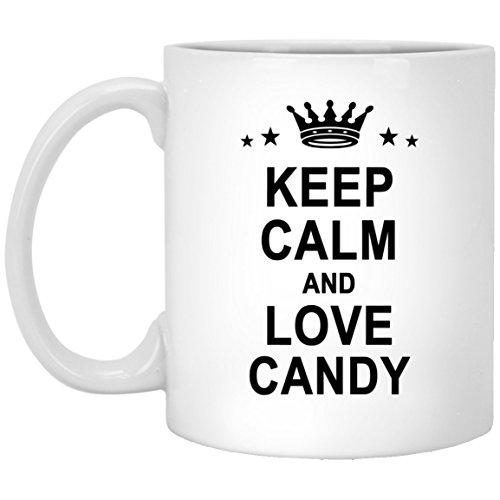 Candy Name Gifts - Keep Calm And Love Candy Cool Coffee Mug