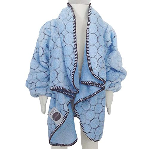 - Babymoon Cuddly Children's Wearable Blanket with Sleeves/Car Seat Safety Blanket - Blue Dot (Sm/Md)