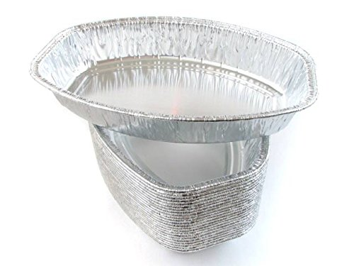 Disposable Aluminum Small Oval Casserole Pan- Individual Size- #4600 (25)