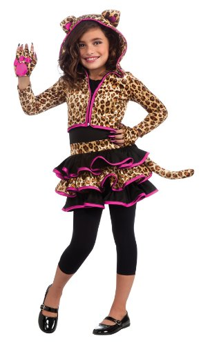 Drama Queens Leopard Hoodie Costume, Medium -