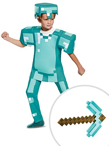 Minecraft Deluxe Armor Costume Kit Kids Small With Pickaxe