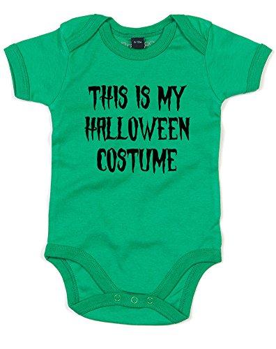 This is my Halloween Costume, Printed Baby Grow - Kelly Green/Black 12-18 Months (Reddit Halloween Costume)