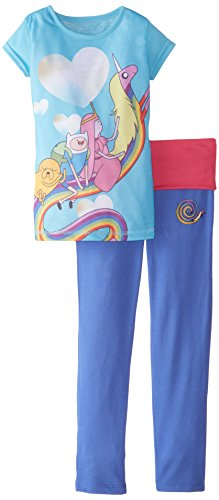 Adventure Time Little Girls' Yoga Pajamas, Multi, 6/6X ()