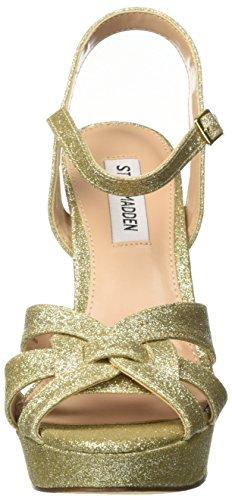 Steve Madden Kaiden, Scarpe Col Tacco Punta Aperta Donna Oro (Gold Glitter)