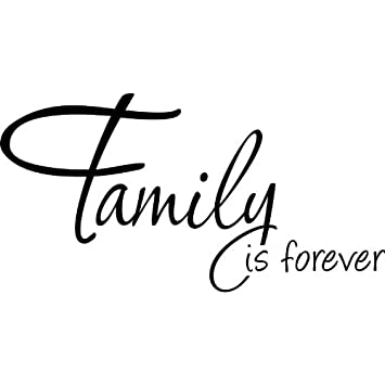Family is forever wall decal quote sticker