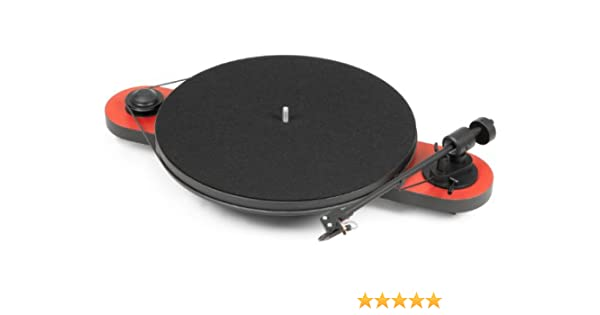 Pro-Ject (Project) Elemental Turntable with OM5E Cartridge - Red ...