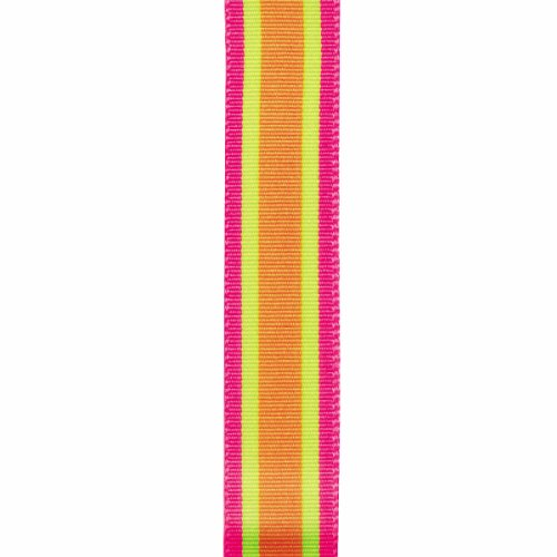 Offray Cotton Candy Craft Ribbon, 7/8-Inch x 9-Feet, Citrus - Offray Dippy Dots