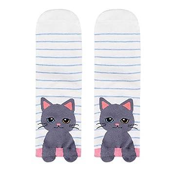 Calcetines para Mujer y niña Yesmile ❤ Mujer Hombre algodón Calcetines Gato Animal Arte Personaje de animacion Lindo Regalo Calcetín de Tobillo: ...