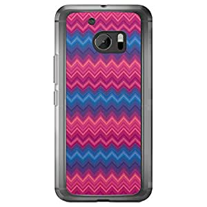 Loud Universe HTC M10 Chevron 4 Printed Transparent Edge Case - Multi Color