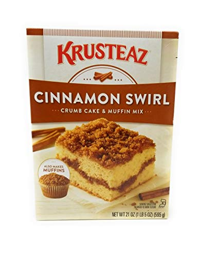 Krusteaz Cinnamon Swirl Crumb Cake and Muffin Mix, 21-Ounce Boxes (Pack of 2) ()