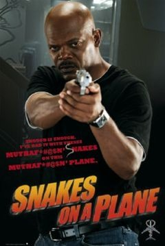 Samuel L Jackson Snakes On A Plane Movie Poster 24 x 36 inch