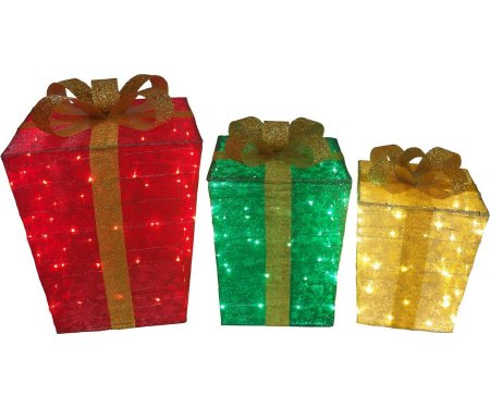 Outdoor Lighted Presents - 7