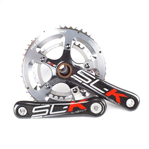 FSA SL-K Light Carbon Road Bike Crankset // 50/34T // 170mm // EVO386 // Red