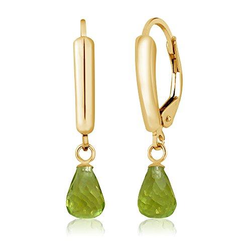 lette Green Peridot Women's Earrings (2.70 cttw, 7X5MM) ()