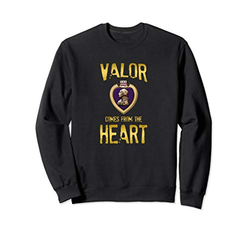 Valor Comes From The Heart Purple Heart Vintage SweatShirt