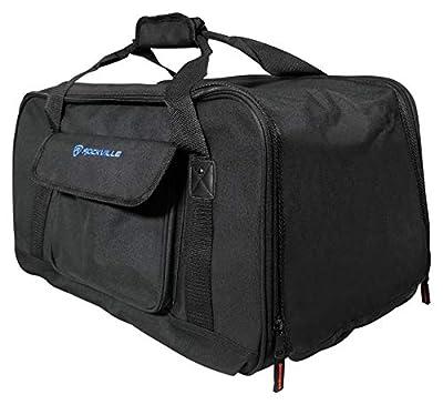 Rockville Lightweight Rugged Speaker Bag Carry Case for DJ PA Speakers