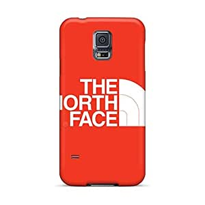 Shock Absorbent Hard Phone Covers For Samsung Galaxy S5 (hnq23741yeAT) Customized Lifelike The North Face Series