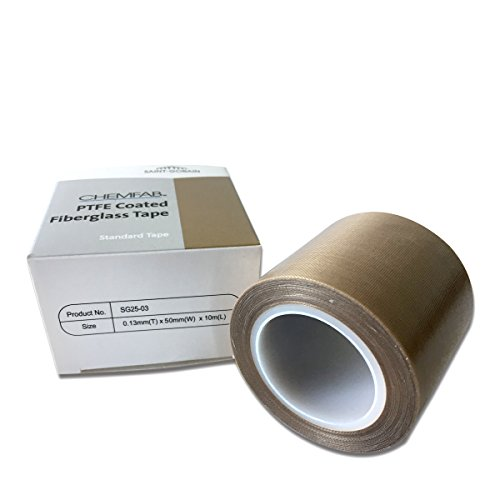 PTFE Coated Fabric Teflon Tape | High Temperature Vacuum Machine Packing Tape | Made by Saint Gobain SG 25-03 (Tape Machine)