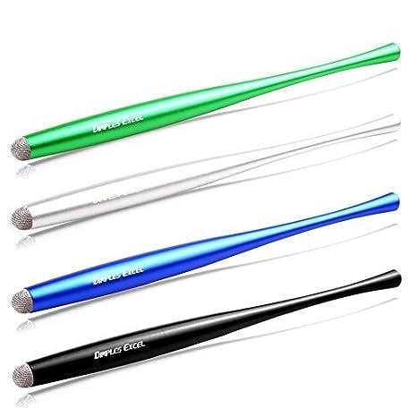 Dimples Excel Bol/ígrafo Digital L/ápiz digital Stylus Pen Cintura Delgada para ipad air pro kindle fire,Tel/éfono Tableta Tablet dispositivos de pantalla t/áctil 8pcs - turquesa // azul oscuro // rosa // plata // p/úrpu iphone