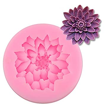 Flores de loto forma Chocolate Candy Cake Molde de silicona 3d Fondant para decoración de tartas DIY rosa Lotus azúcar Craft moldes de silicona.