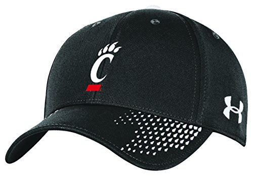 Cincinnati Bearcats Ncaa Baseball - Under Armour NCAA Cincinnati Bearcats Men's Renegade Stretch Fit Cap, Medium/Large, Black