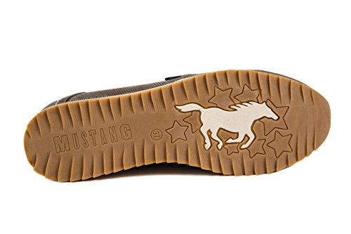 Mustang Damenschuhe Damen Slipper Halbschuhe Gr. 37 Bronze - Braun